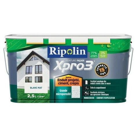 Peinture façade Surface structurée xpro3 RIPOLIN 2,5L - plusieurs modèles disponibles