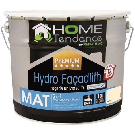 Peinture façade universelle Hydro Façadlith hydropliolite 10 L ton pierre mat - HOME TENDANCE by RENAULAC