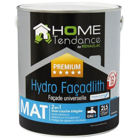 Peinture Façade Universelle Hydro Façadlith Hydropliolite 25 L Gris