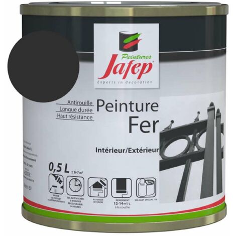Peinture fer antirouille gris anthracite Jafep 0,5 L
