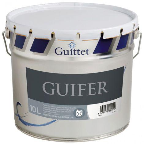 Peinture fer antirouille Guittet Guifer 10L Blanc | Finition: Brillante - Couleur: Blanc