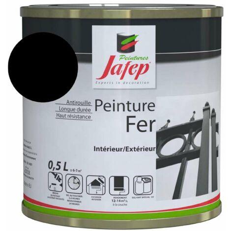 Peinture fer antirouille noir mat Jafep 0,5 L