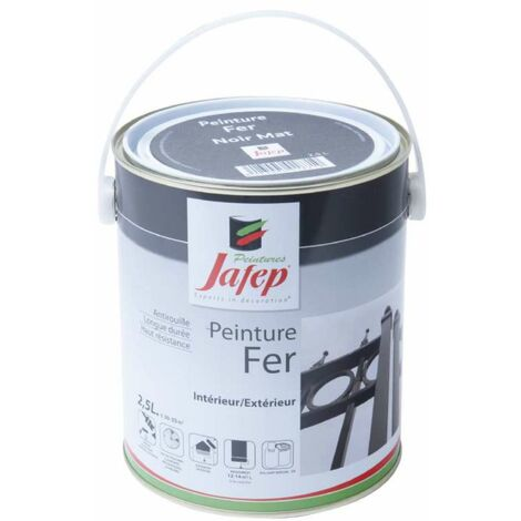 Peinture fer antirouille noir mat Jafep 2,5 L