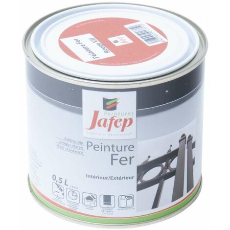 Peinture fer antirouille rouge vif 0,5L 500 ml