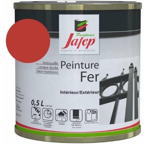 Peinture fer antirouille rouge vif Jafep 0,5 L