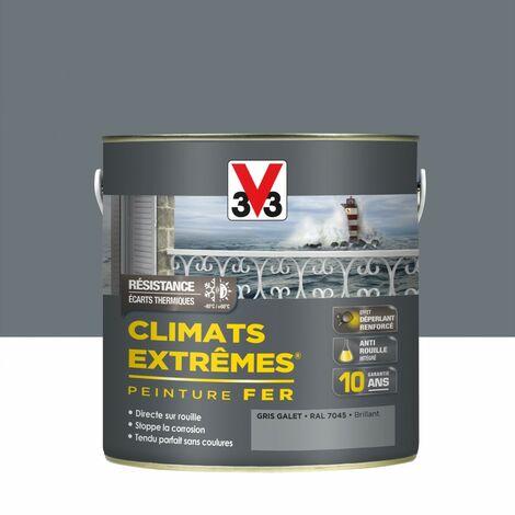 Peinture fer Climats Extreme V33 2L - Teinte: gris galet RAL7045 brillant