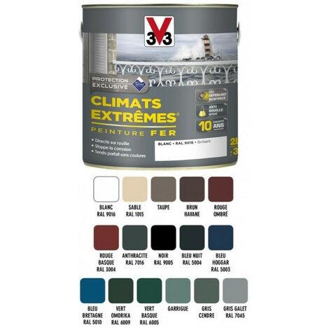 Peinture fer Climats Extreme V33 2L - Teinte: noir RAL9005 brillant