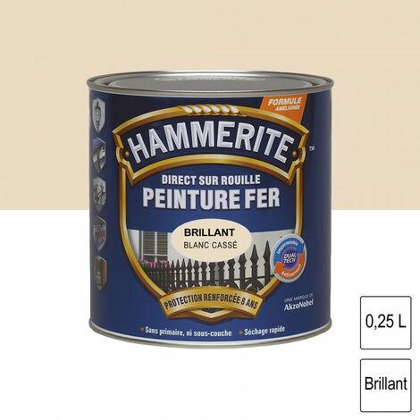 Peinture fer Direct sur Rouille - 2,5L - brillant (différentes teintes) HAMMERITE - plusieurs modèles disponibles