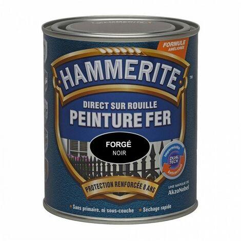 Peinture fer Direct sur Rouille - 2,5L - forgé (différentes teintes) HAMMERITE - plusieurs modèles disponibles