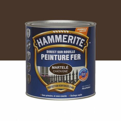 Peinture fer Direct sur Rouille - 2,5L - martelé (différentes teintes) HAMMERITE - plusieurs modèles disponibles