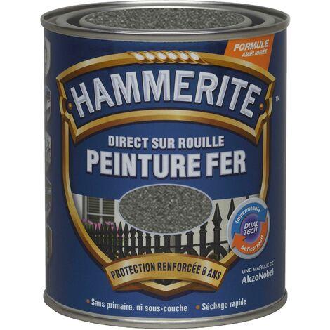 Peinture fer Direct sur Rouille - 750ml - forgé (différentes teintes) HAMMERITE - plusieurs modèles disponibles