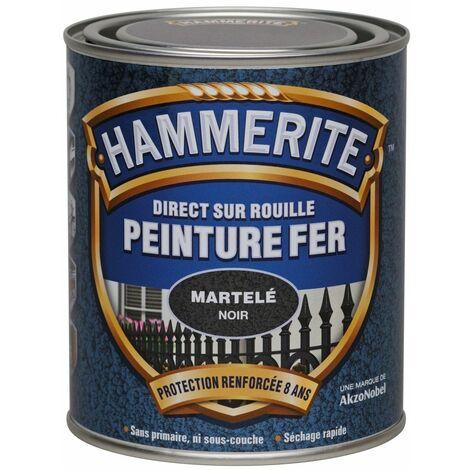 Peinture fer Direct sur Rouille - 750ml - martelé (différentes teintes) HAMMERITE - plusieurs modèles disponibles