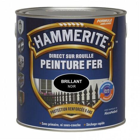 Peinture fer Direct sur Rouille: différentes teintes, mat, satin, brillant, martelé ou forgé HAMMERITE - plusieurs modèles disponibles