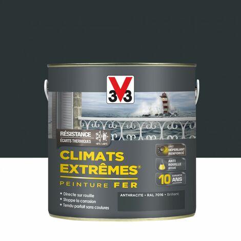 Peinture fer extérieur Climats extrêmes® V33 anthracite brillant 2 l