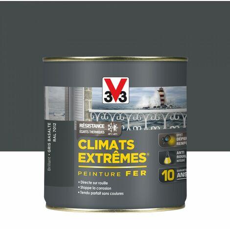 Peinture fer extérieur Climats extrêmes® V33 gris basalte brillant 0.5 l