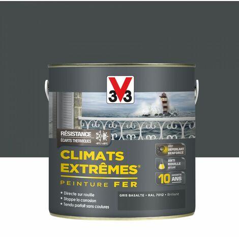 Peinture fer extérieur Climats extrêmes® V33 gris basalte brillant 2 l