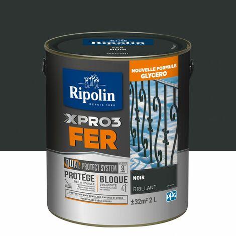 Peinture fer extérieur / intérieur Xpro3 RIPOLIN noir brillant 2 l