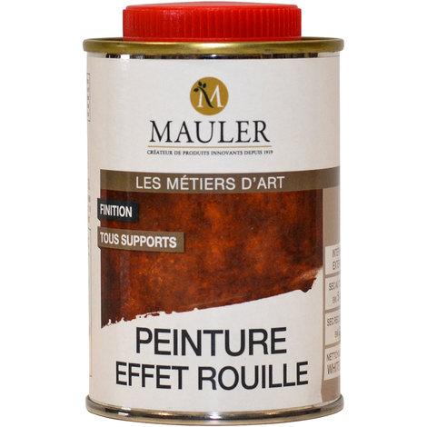 Peinture finition effet rouille Mauler 0,25L : pour imiter l'aspect rouille sur tous supports