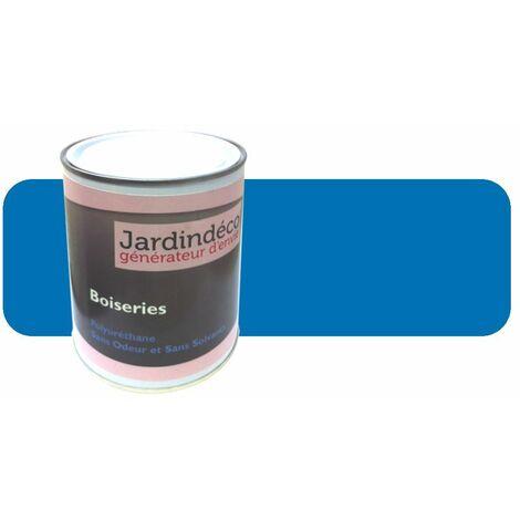 Peinture gentiane pour meuble en bois brut 1 litre Bleu ciel
