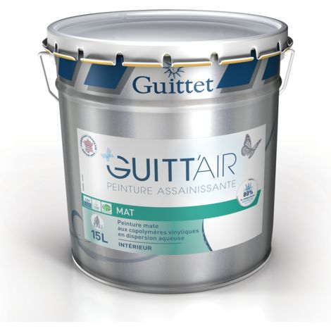 Peinture Guitt'Air mat 15L Blanc | Finition: Mat - Couleur: Blanc