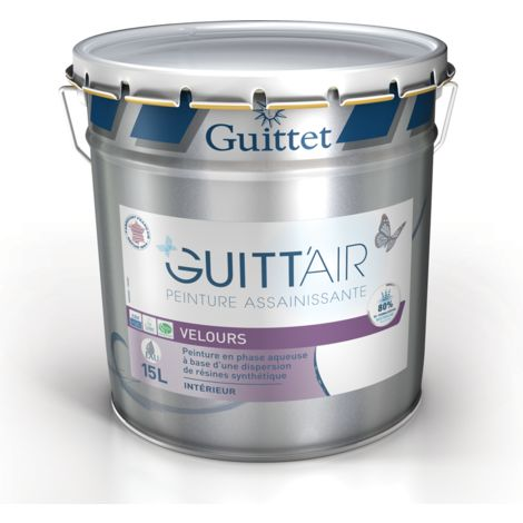 Peinture Guitt'Air velours 15L Blanc | Finition: Velours - Couleur: Blanc