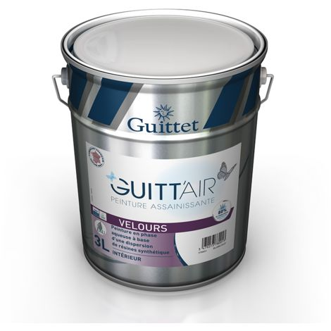 Peinture Guitt'Air velours 3L Blanc | Finition: Velours - Couleur: Blanc