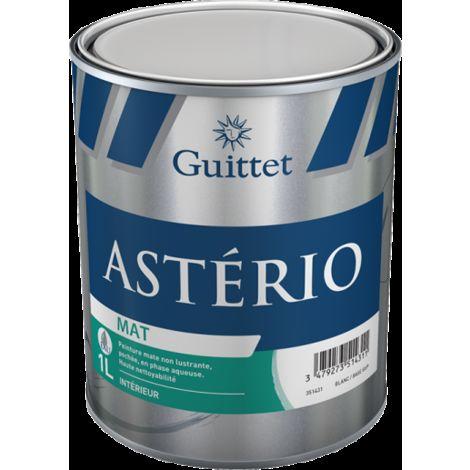 Peinture Guittet Asterio Mat 1L Blanc | Finition: Mat - Couleur: Blanc