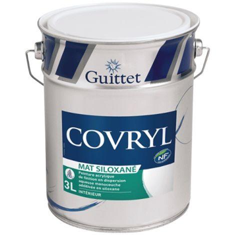 Peinture Guittet Covryl Mat blanc 3L | Finition: Mat - Couleur: Blanc