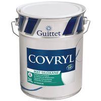 Peinture Guittet Covryl Mat blanc 3L   Finition: Mat - Couleur: Blanc