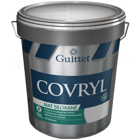 Peinture Guittet Covryl Mat Siloxané blanc 15L | Finition: Mat - Couleur: Blanc