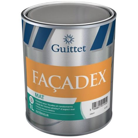 Peinture Guittet Façadex mat 1L Blanc | Finition: Mat - Couleur: Blanc