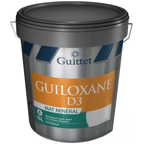 Peinture Guittet Guiloxane D3 Mat mat minéral 15L Blanc | Finition: Mat - Couleur: Blanc