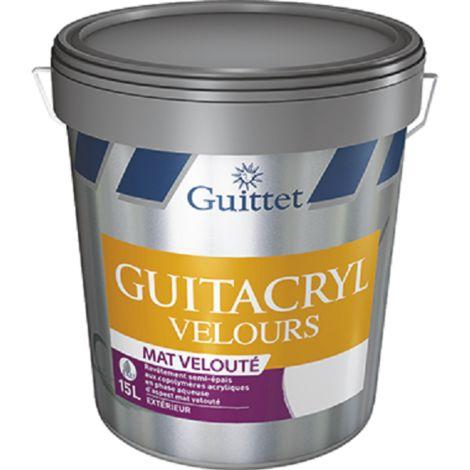 Peinture Guittet Guitacryl Velours 15L Blanc | Finition: Velours - Couleur: Blanc