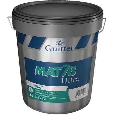 Peinture Guittet Mat 78 Ultra blanc 3L | Finition: Mat - Couleur: Blanc