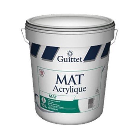 Peinture Guittet Mat acrylique 15L Blanc | Finition: Mat - Couleur: Blanc