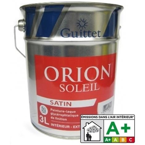 Orion Soleil Satin Blanc 1 L Peinture Laque Glycérophtalique De