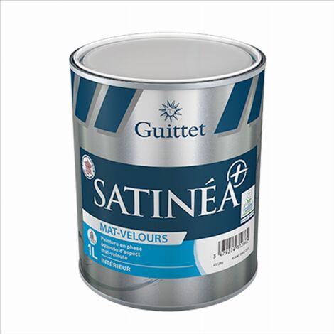 Peinture Guittet Satinea + Mat Velours blanc 1L