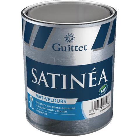 Peinture Guittet Satinea Mat Velours blanc 1L | Finition: Velours - Couleur: Blanc