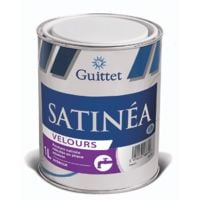 Peinture Guittet Satinea Velours blanc 1L | Finition: Velours - Couleur: Blanc