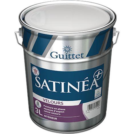 Peinture Guittet Satinea + Velours blanc 3L