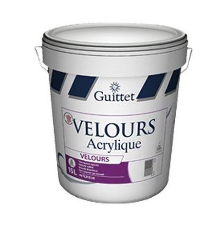 Peinture Guittet Velours acrylique 15L Blanc | Finition: Velours - Couleur: Blanc