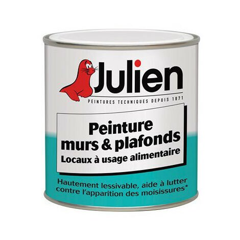Peinture Hygiapeint Local Alimentaire Blanc Satin 0.5 litre - JULIEN