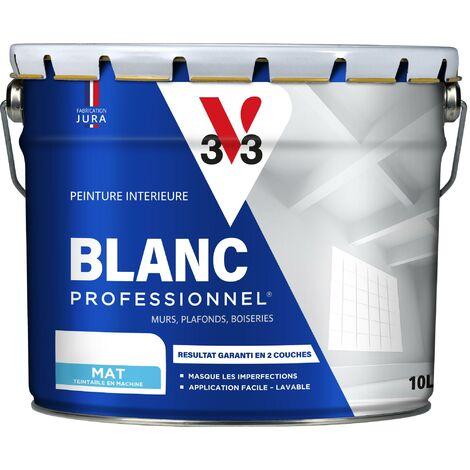 Peinture intérieure Blanc professionnel® Blanc mat 10 L V33 - Blanc