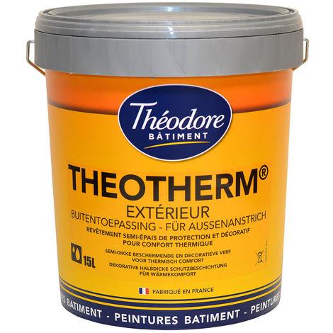 Peinture isolante thermique de ravalement façades semi-épais souple D3/i1 : Theotherm Extérieur