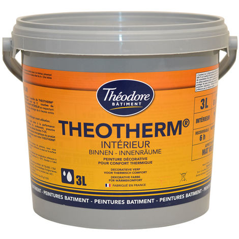 Peinture isolante thermique intérieure finition velours pour murs et plafonds : Theotherm Intérieur