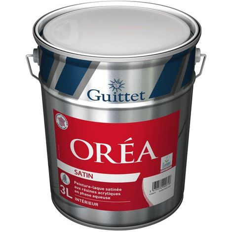 Peinture-Laque acrylique Guittet Oréa satin 3L | Finition: Satinée - Couleur: Blanc