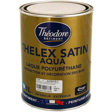 Peinture laque acrylique polyuréthane satinée haut de gamme pour bois, boiseries, meubles et murs : Thelex satin aqua