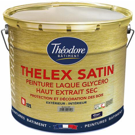 Peinture laque glycéro intérieure/extérieure de haute qualité pour bois, boiseries et meubles : Thelex satin