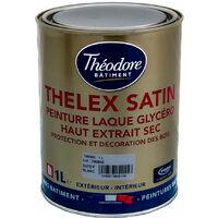 Peinture laque glycéro intérieure/extérieure pour bois, boiseries et meubles : Thelex satin
