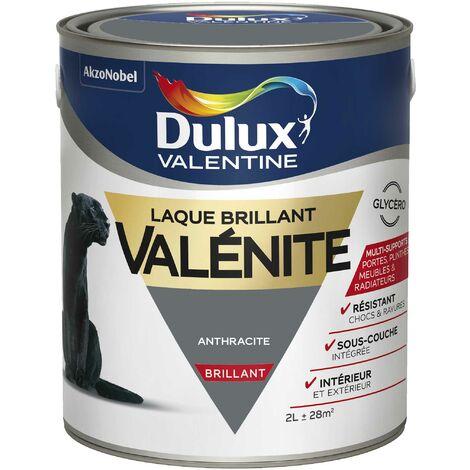 Peinture Laque Valénite Brillant Anthracite 2 L - Dulux Valentine